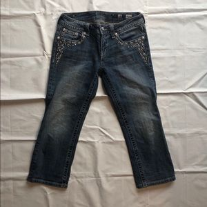 Miss Me Capri Denim Jeans Sz 28